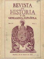 1915 Revista H y Genealogía Cofradia Infanzones